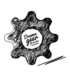 Gear drawn vector