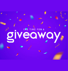 Giveaway raffle day poster design give away vector