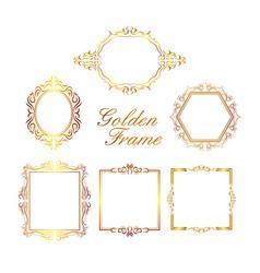 Golden frame collection vector