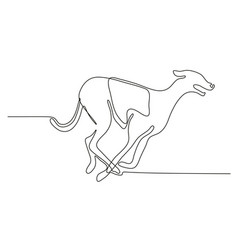 Greyhound racing continuous line vector