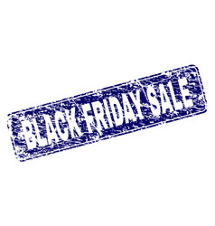 grunge black friday sale framed rounded rectangle vector image