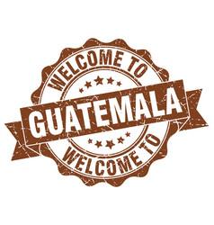 Guatemala round ribbon seal vector