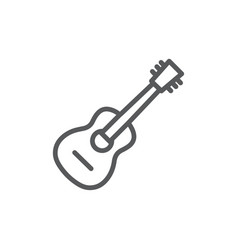 guitar line icon on white background vector image