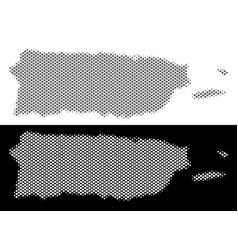 halftone puerto rico map vector image