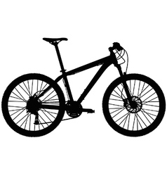 Hardtail mountain bike vector image