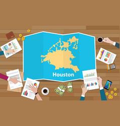 houston texas america city region economy growth vector image