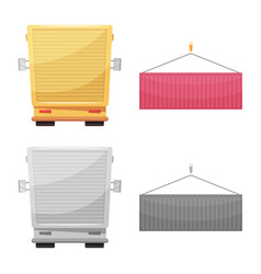 Isolated object of goods and cargo icon set of vector