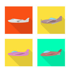 Isolated object travel and airways logo set of vector