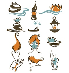 Large spa collection vector