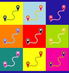 location pin navigation map gps sign pop vector image