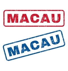 Macau Rubber Stamps vector