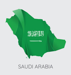 map saudi arabia vector image