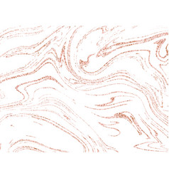Marble rose gold background marbling texture vector