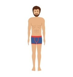 men with blue swimming boxer vector image