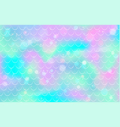 Mermaid scale pattern gradient fish texture pink vector