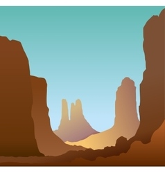 Minimalistic landscape of the canyon vector image