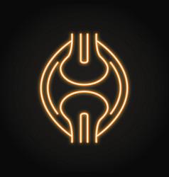 Neon bones joint icon in line style vector