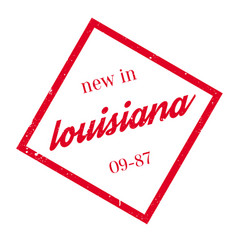 new in louisiana rubber stamp vector image