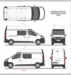 Nissan nv300 combi delivery van l2h2 2014 vector