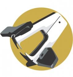 paper stapler vector image
