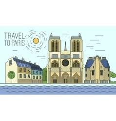 Paris Travel 12 A vector image