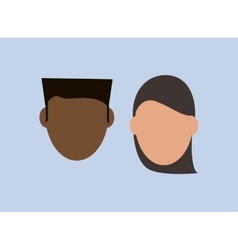 People faceless heads image vector
