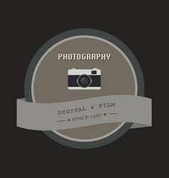 photography badge and label in retro vintage vector image