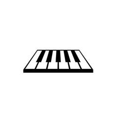 piano logo graphic design template vector image