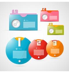 Progress Steps for Tutorial Infographics Template vector