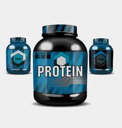 protein whey vector image