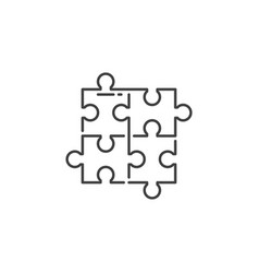 puzzle related line icon vector image