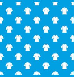 Raglan tshirt pattern seamless blue vector