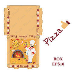 Ready to print 17 pizza food packaging box layout vector