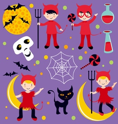 Red devil Hallowen vector