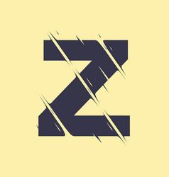 scribbled letter z vector image