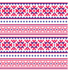 Seamless folk art pattern lapland traditional vector