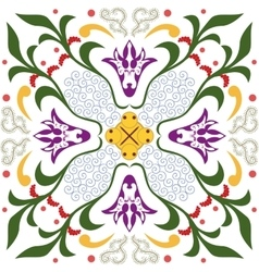 Seamless pattern with ornament floral vector