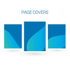 set of brochure annual report flyer design vector image