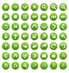 Set of Green Buttons vector image