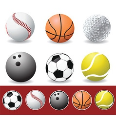 Set of sports balls vector