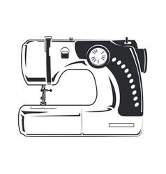 Sewing machine monochrome vector