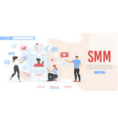 Smm campaign and social media network promotion vector