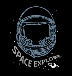 Space explore vector image