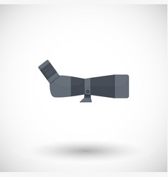 spotting scope flat icon vector image
