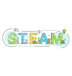 steam education approach concept vector image