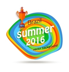 Summer travel brazil background for sport banner vector image