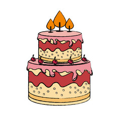 sweet cake delicious icon vector image