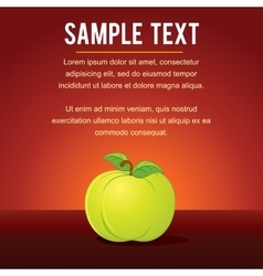 Template with Green Apple vector image