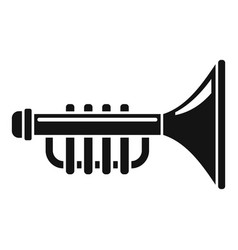 Toy trumpet icon simple style vector