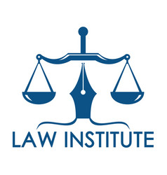 law and justice logo design vector image